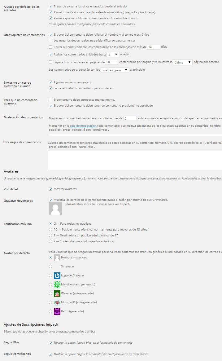 Comentarios-personalizacion